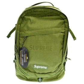 SUPREME(シュプリーム)19SS Backpack CORDURAナイロンロゴジャガード総柄バックパック カーキ リュックサック コーデュラ