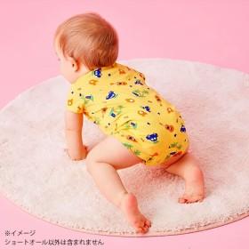 【ホットビスケッツ】 クレープ素材 涼しいショートオール(イエロー×70cm)