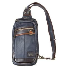 (Bag & Luggage SELECTION/カバンのセレクション)ワンショルダーバッグ ボディバッグ メンズ 軽量 Lee リー 合成皮革 PUレザー rising ライジング 320-3502/ユニセックス ネイビー 送料無料