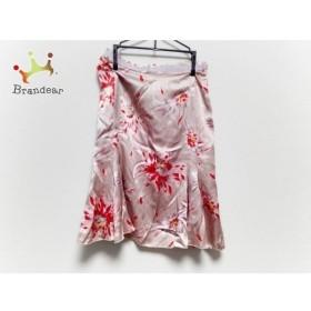 ブルマリン・アンナモリナーリ スカート サイズI 38 レディース ベージュ×レッド×ピンク 花柄 新着 20190725