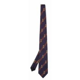 グッチ Gucci メンズ ネクタイ Striped silk-blend tie navy