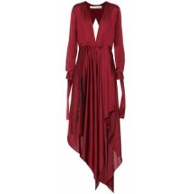 オフ-ホワイト Off-White レディース ワンピース ワンピース・ドレス Silk-blend satin dress red