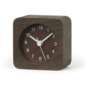 目覚まし時計 レスト 四角 ブラウン