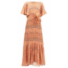 ジョアンナオッティ Johanna Ortiz レディース ワンピース ワンピース・ドレス The Quintessence of Calm crepe-georgette dress orange