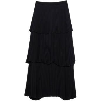 《セール開催中》KI6 WHO ARE YOU レディース ロングスカート ブラック 40 ポリエステル 100% / レーヨン / ポリウレタン