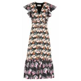テンパリー ロンドン Temperley London レディース ワンピース ワンピース・ドレス Dragonfly printed crepe midi dress Black Mix