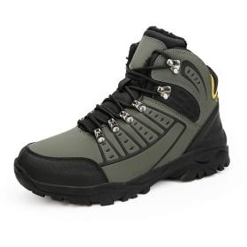 [Acuiii] 冬のメンズシューズ防水アウトドア登山靴 メンズベルベット暖かい靴メンズランニングシューズ滑り止めスニーカー