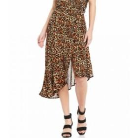 バンド オブ ジプシーズ Band Of Gypsies レディース スカート Bronzite Leopard Print Asymmetrical Hem Skirt Tan/Black