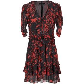 《セール開催中》ISABEL MARANT レディース ミニワンピース&ドレス レッド 38 シルク 92% / ポリウレタン 8% / 羊革(ラムスキン)