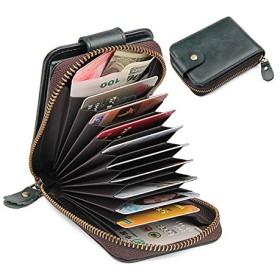 YULPING 本革9カードスロット財布ヴィンテージソフトコインケース ハンドバッグ (Color : Blue)