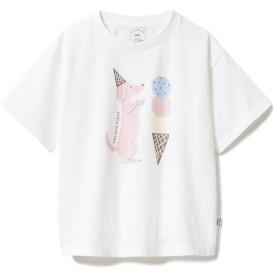 【ジェラート ピケ/gelato pique】 【KIDS】アイスクリームアニマルワンポイント kids Tシャツ