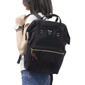 yasushoji レディース メンズ リュック バッグ ポケット 大容量 ナイロン 旅行 通勤 通学 ipad 14インチ 2way (ブラック)