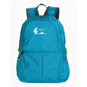 FF スキンパック折りたたみバックパックアウトドアライト登山バッグ旅行 (色 : Blue)