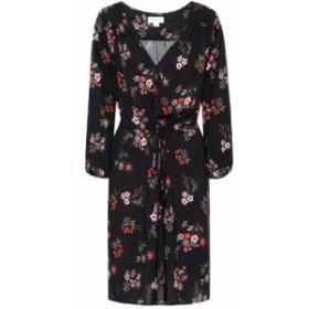 ベルベット グラハム&スペンサー Velvet レディース ワンピース ワンピース・ドレス Floral wrap-effect dress Akira