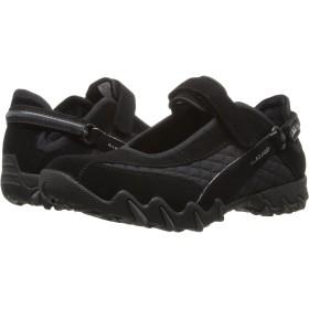 [メフィスト] レディースウォーキングシューズ・カジュアルスニーカー・靴 Niro Black Suede/Wela Mesh 1 39 (US Women's 9) (26cm) M (B) [並行輸入品]