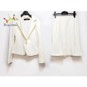 イネド INED スカートスーツ サイズ7 S レディース 美品 アイボリー 新着 20190725