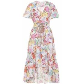 ピーター ピロット Peter Pilotto レディース ワンピース ワンピース・ドレス Floral cotton midi dress Column Flower White