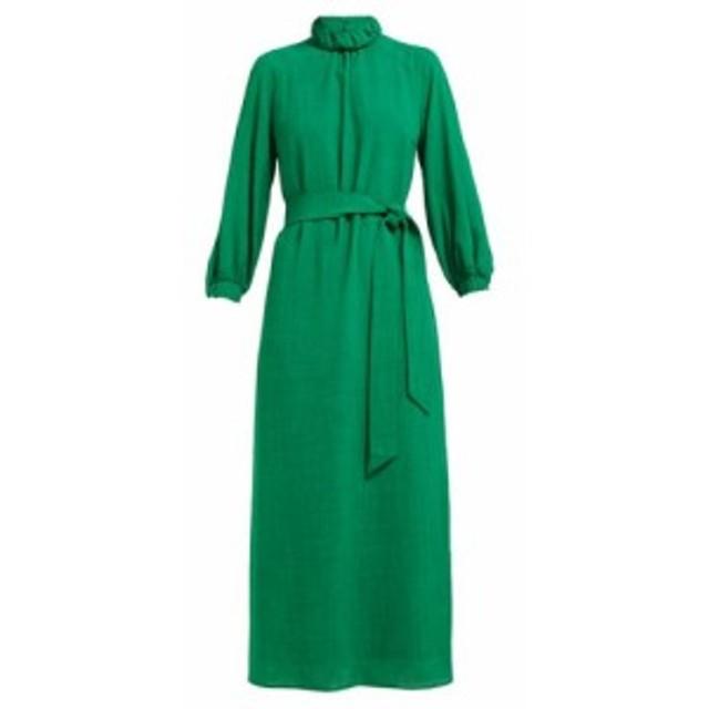 セフィン Cefinn レディース ワンピース ワンピース・ドレス Tie-waist high-neck voile midi dress green