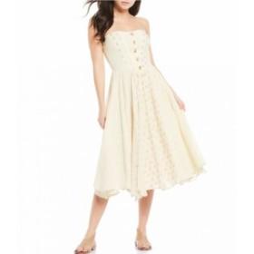 フリーピープル Free People レディース ワンピース ワンピース・ドレス Amanda Cotton Strapless Midi Dress Ivory