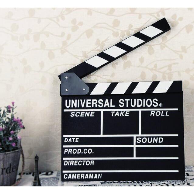 台灣現貨電影拍板/導演板打板/婚紗拍攝/攝影/拍照/黑色場記板/木質/婚禮小物葉子小舖