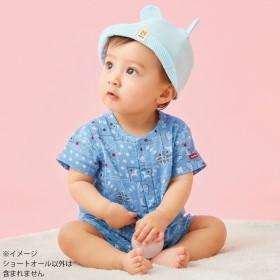 【ホットビスケッツ】 クレープ素材 涼しいショートオール(ブルー×70cm)