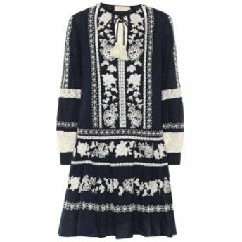 トリー バーチ Tory Burch レディース ワンピース ワンピース・ドレス Boho embroidered cotton minidress Tory Navy