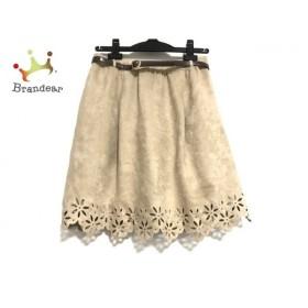 アプワイザーリッシェ スカート サイズ2 M レディース 美品 ライトブラウン ベルト付き   スペシャル特価 20191106