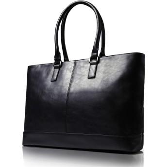 Ratel Tail ビジネストートバッグ メンズ トート バッグ 大容量 ビジネスバッグ 自立 トートバッグ (アンバーブラック)