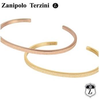 ザニポロタルツィーニ サンド カラー サージカルステンレス バングル ローズゴールド イエローゴールド レディースバングル レディース