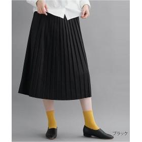 メルロー プリーツスカート1878 レディース ブラック L 【merlot】