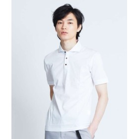 (ABAHOUSE/アバハウス)【展開店舗限定】シルケット天竺ポロシャツ/メンズ ホワイト