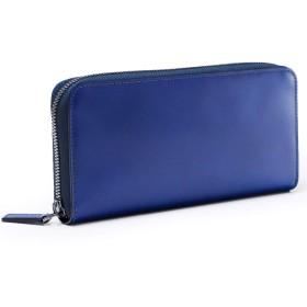 [フジタカ] コードバン 長財布 ラウンドファスナー カード段25 ステイン財布 No.633606 ブルー