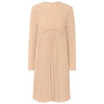 クロエ Chloe レディース ワンピース ワンピース・ドレス Crepe pleated dress Sand Brown