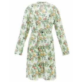 ヴェトモン Vetements レディース ワンピース ワンピース・ドレス Floral-print tie-waist dress green floral print