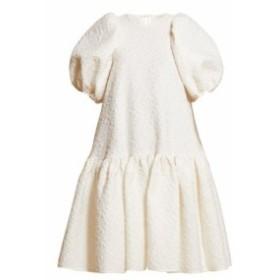 セシル バンセン Cecilie Bahnsen レディース ワンピース ワンピース・ドレス Alexa dropped-hem matelasse dress ivory