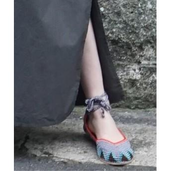 journal standard luxe 【KASHURA / カシュラ】Crochet Ballerina◆ グレーB 38