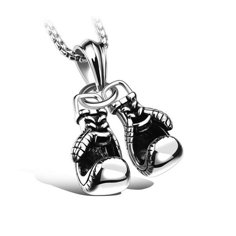 【5折超值價】情人節禮物最新款經典歐美風格拳擊手套造型男款鈦鋼項鍊
