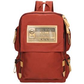 NOQINHOO リュックサック デイパック リュック 通勤 通学 人気 バッグ 男女兼用 大容量 多機能 15インチ PCバッグ (オレンジ)