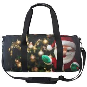 ボストンバッグ スポーツバッグ ジムバッグ レディース メンズ 2way ジム通い バッグ トラベルバッグ 2泊 旅行 ホリデークリスマスツリーのおもちゃ シューズ収納 防水 軽量