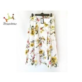 アプワイザーリッシェ ロングスカート サイズ2 M レディース 美品 白×イエロー×マルチ 花柄 新着 20190725