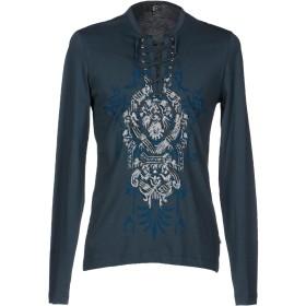 《期間限定 セール開催中》JUST CAVALLI メンズ T シャツ ブルーグレー 46 コットン 100%