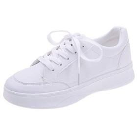 [AcMeer] 運動靴 ホワイト レディース スニーカー ランニングシューズ 街着 フラット感 安定感 大人 学生 無地 人気白 歩きやすい トラベル 痛くない シンプル 可愛い