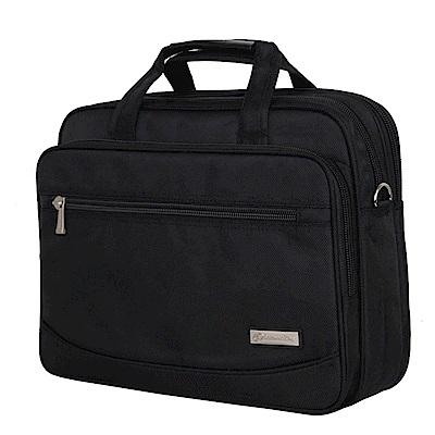 KB8009BK新潮多夾層商務側背包15.6吋黑色