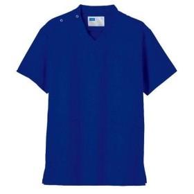 自重堂 男女兼用スクラブ ロイヤルブルー LLサイズ 1枚 WH11485-028-LL