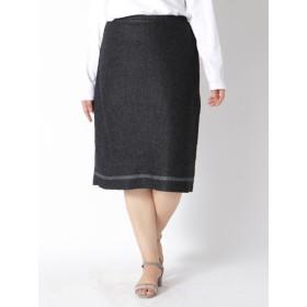 【大きいサイズレディース】気品漂うプリーツスカート スカート 膝丈スカート