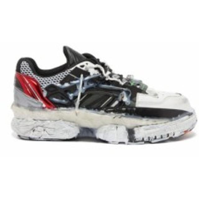 メゾン マルジェラ Maison Margiela メンズ スニーカー シューズ・靴 Fusion leather and mesh trainers black