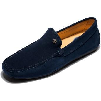 [OPP] メンズシューズ ローファー 本革 カジュアル ソリッドカラー コンフォートスリッポン loafer 靴