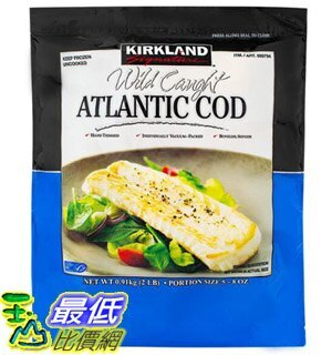 [COSCO代購] WC699794 Kirkland Signature 冷凍野生大西洋鱈魚 0.91 公斤