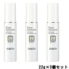 アクセーヌ スーパーサンシールド EX SPF50+・PA++++ 22g 3個セット [ acseine / 化粧品 ] -定形外送料無料-