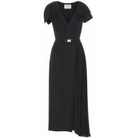 プラダ Prada レディース ワンピース ワンピース・ドレス Belted twill midi dress Nero/nero